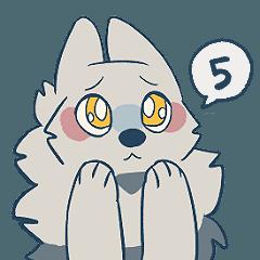 [LINEスタンプ] 語彙力のないオオカミくん5