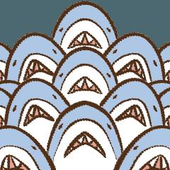 [LINEスタンプ] おつかれサメ 基本のサメ語篇